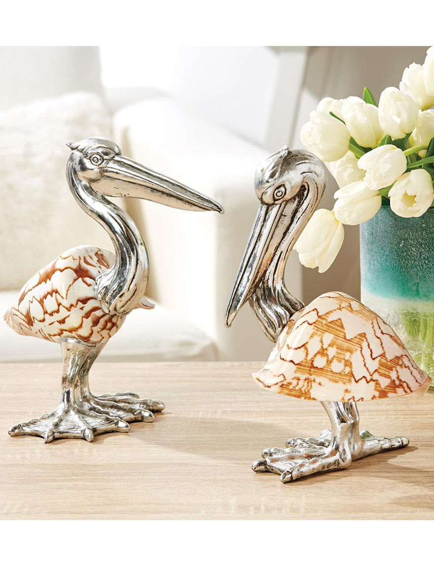Two's Company Silver Decorative Objects Home Accents