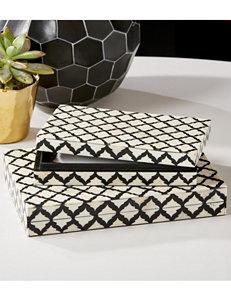 Two's Company Black / White Storage Bags & Boxes Storage & Organization