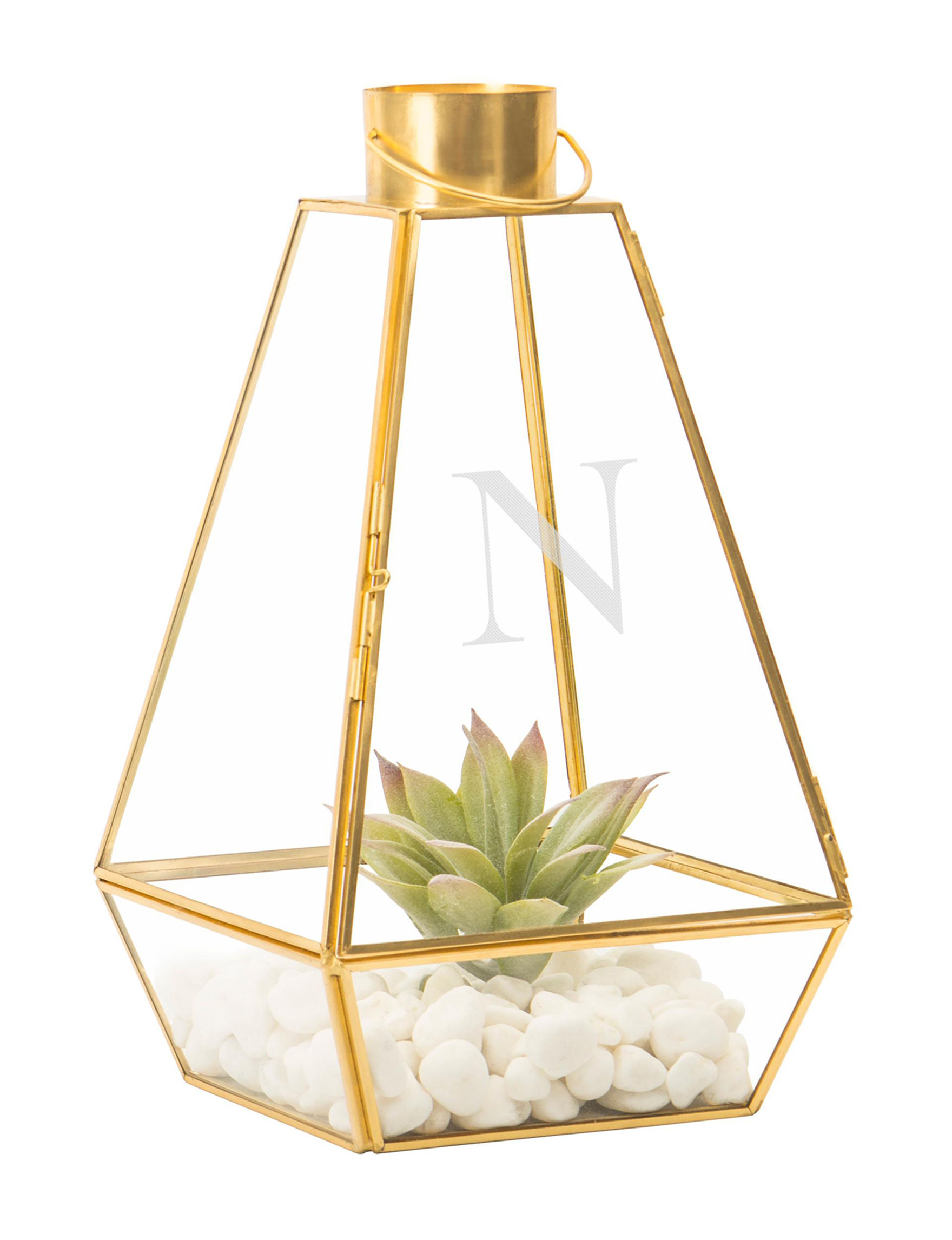 Cathy's Concepts Gold Monogram Home Accents