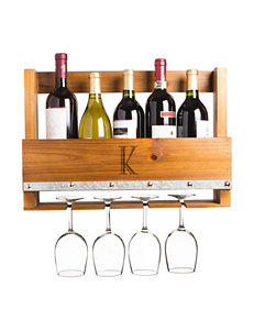 Cathy's Concepts Brown Wine Racks Bar Accessories