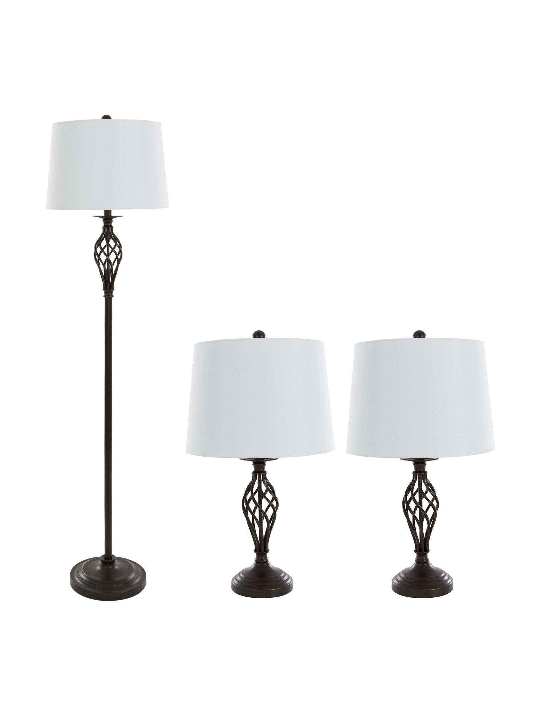 Lavish Home Bronze Floor Lamps Table Lamps Lighting & Lamps