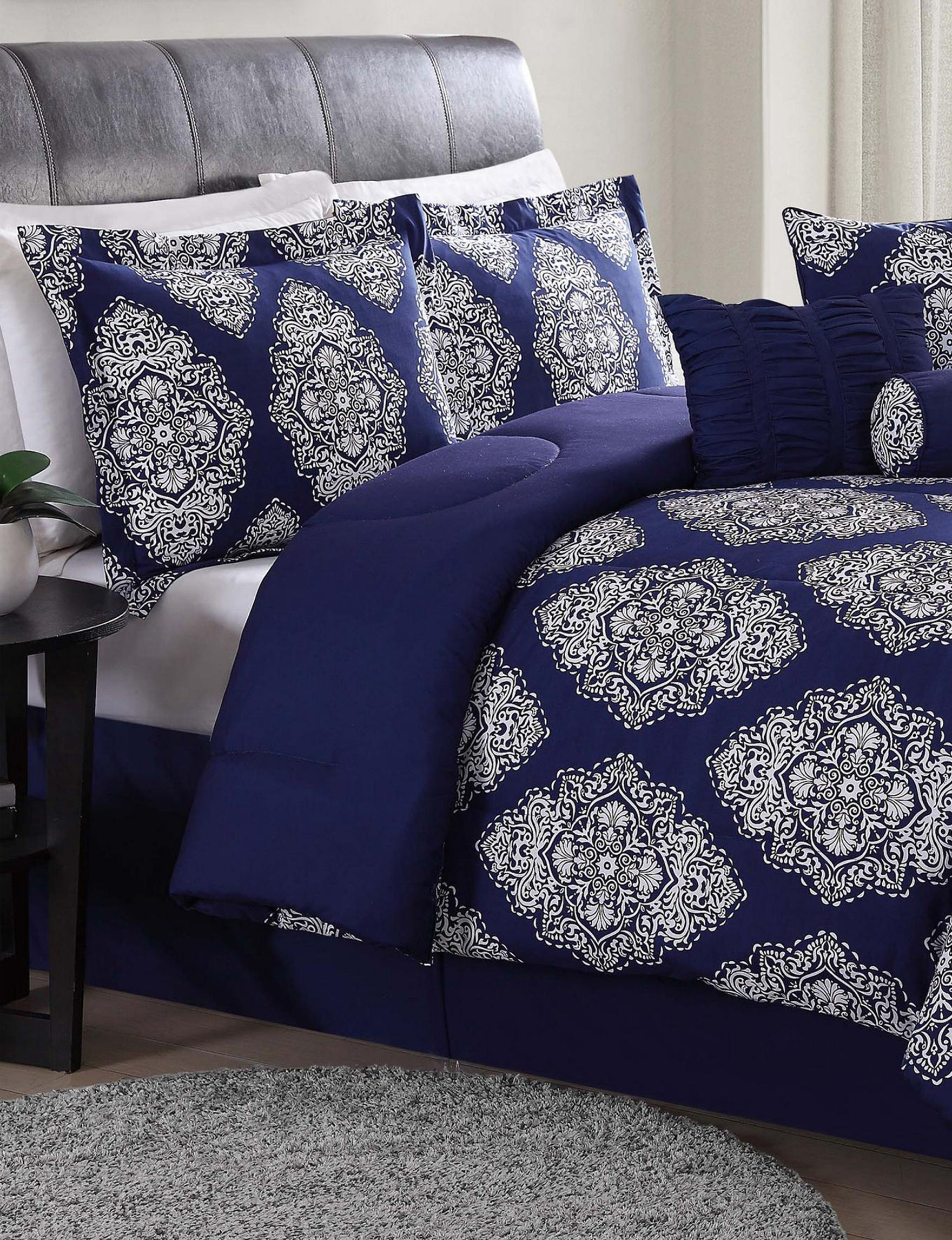 Lifestyles Blue Multi Comforters & Comforter Sets