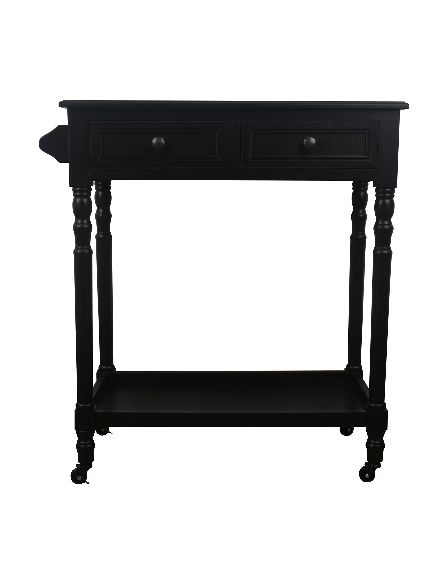 Decor Therapy Black Bar & Wine Storage Kitchen & Dining Furniture