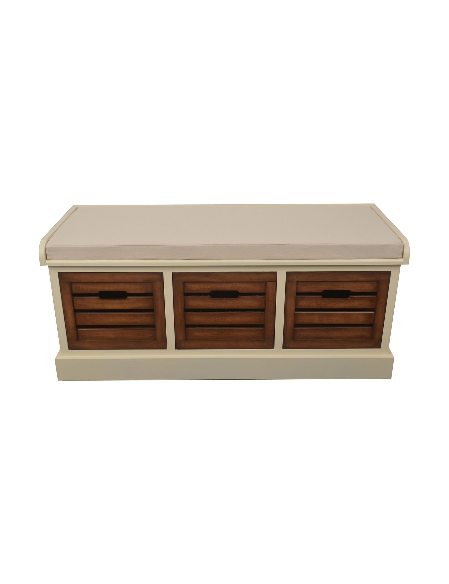 Decor Therapy Beige / Brown Ottomans & Benches Bedroom Furniture Entryway Furniture Home Office Furniture Living Room Furniture