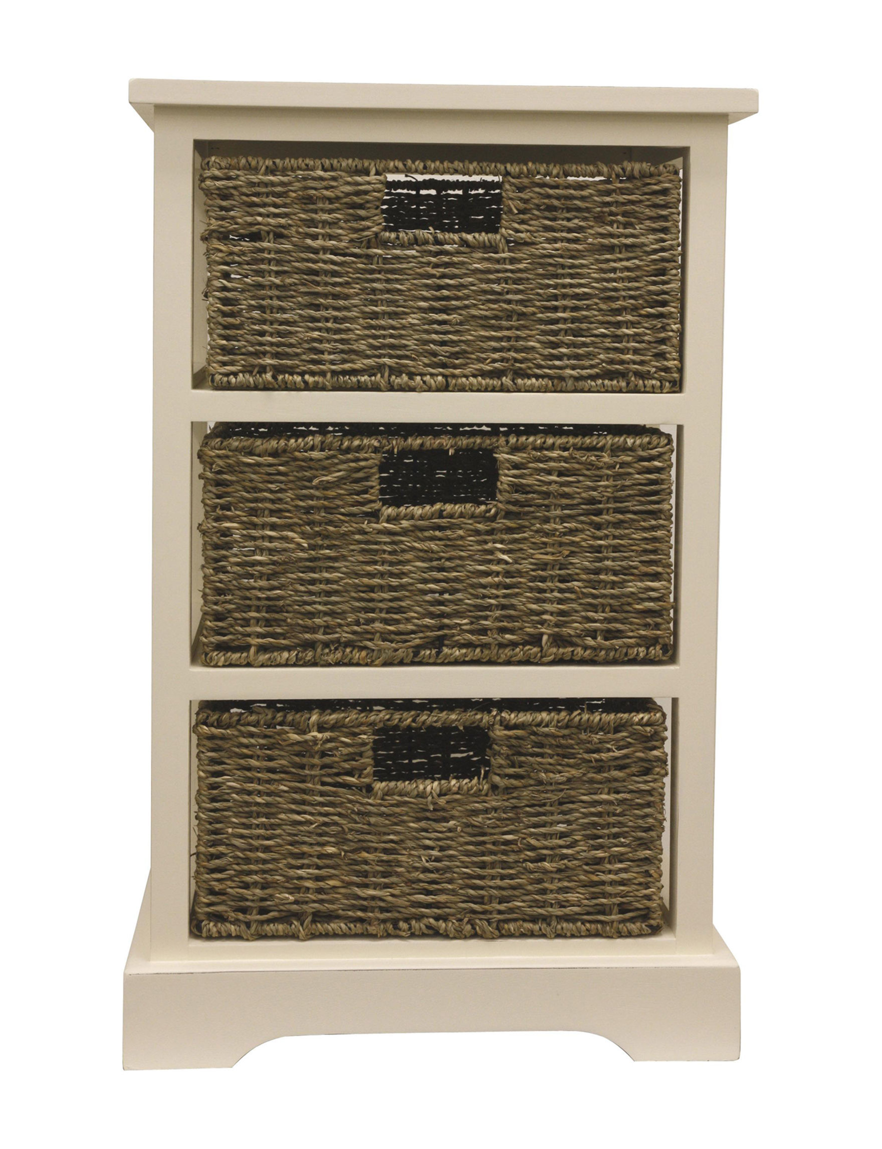 Decor Therapy Beige / Brown Dressers & Chests Bathroom Furniture Bedroom Furniture Home Office Furniture