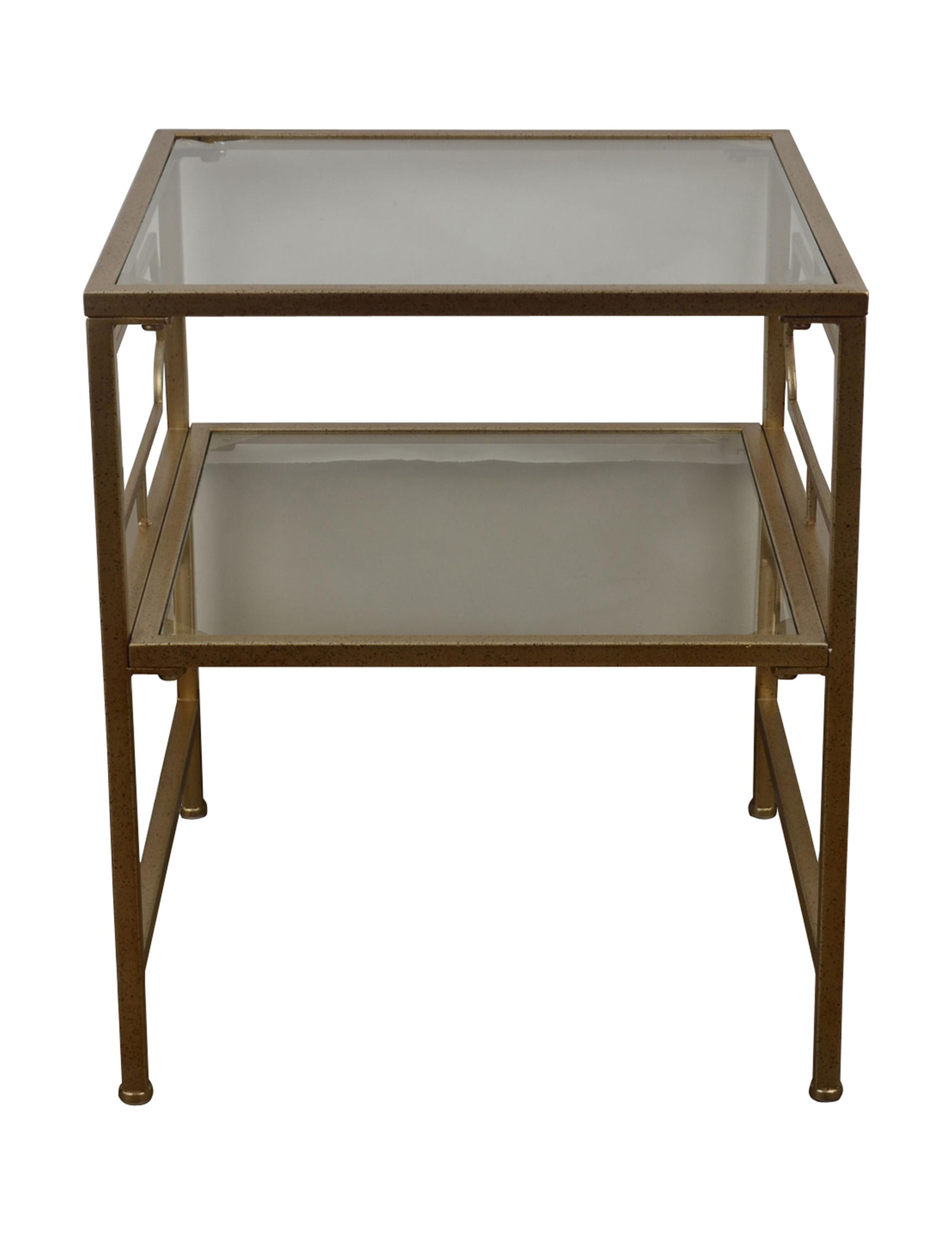 Decor Therapy Champagne Accent & End Tables Entryway Furniture Living Room Furniture