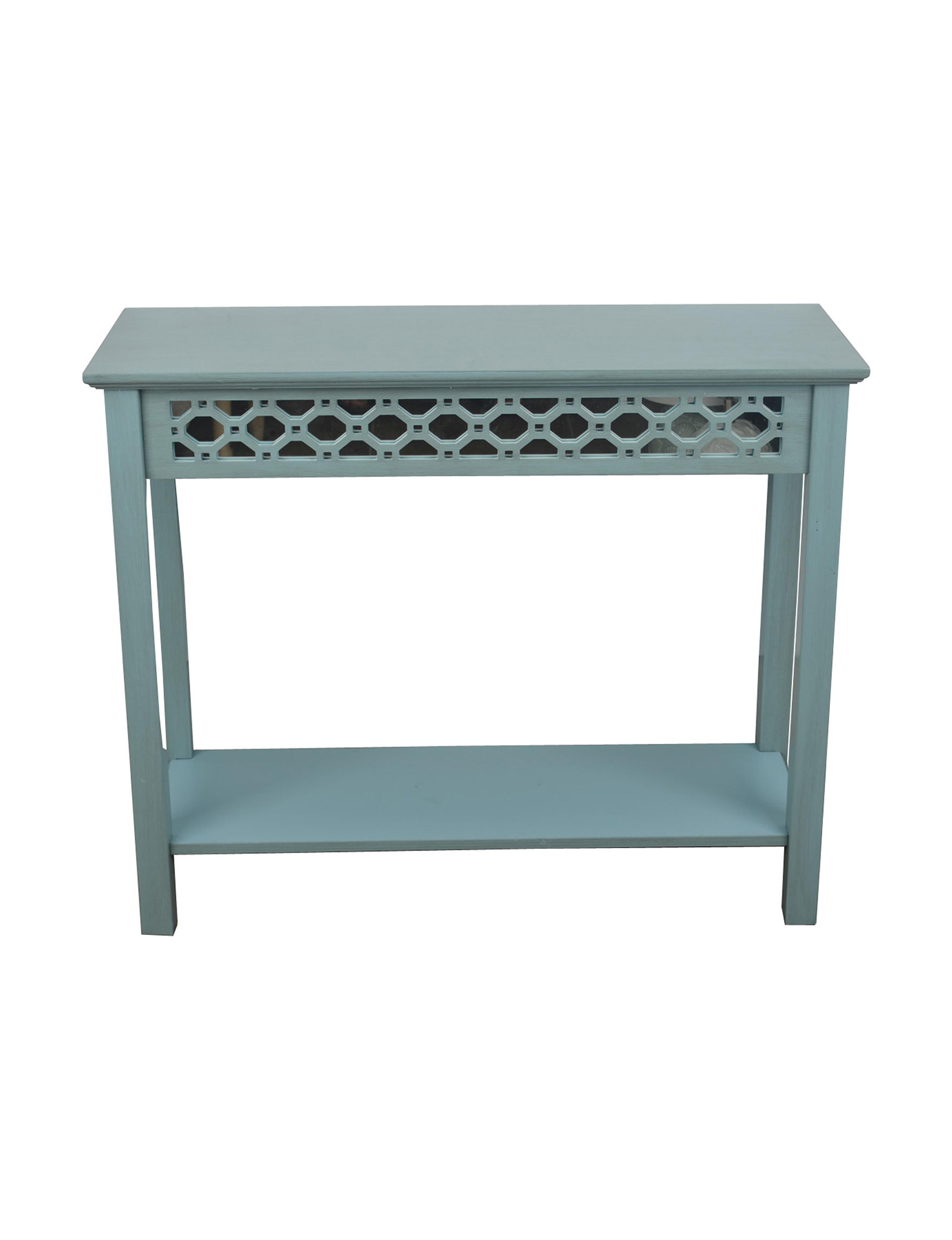 Decor Therapy Blue Accent & End Tables Entryway Furniture Home Office Furniture Living Room Furniture