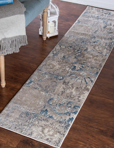 Lavish Home Blue Area Rugs Runners Rugs
