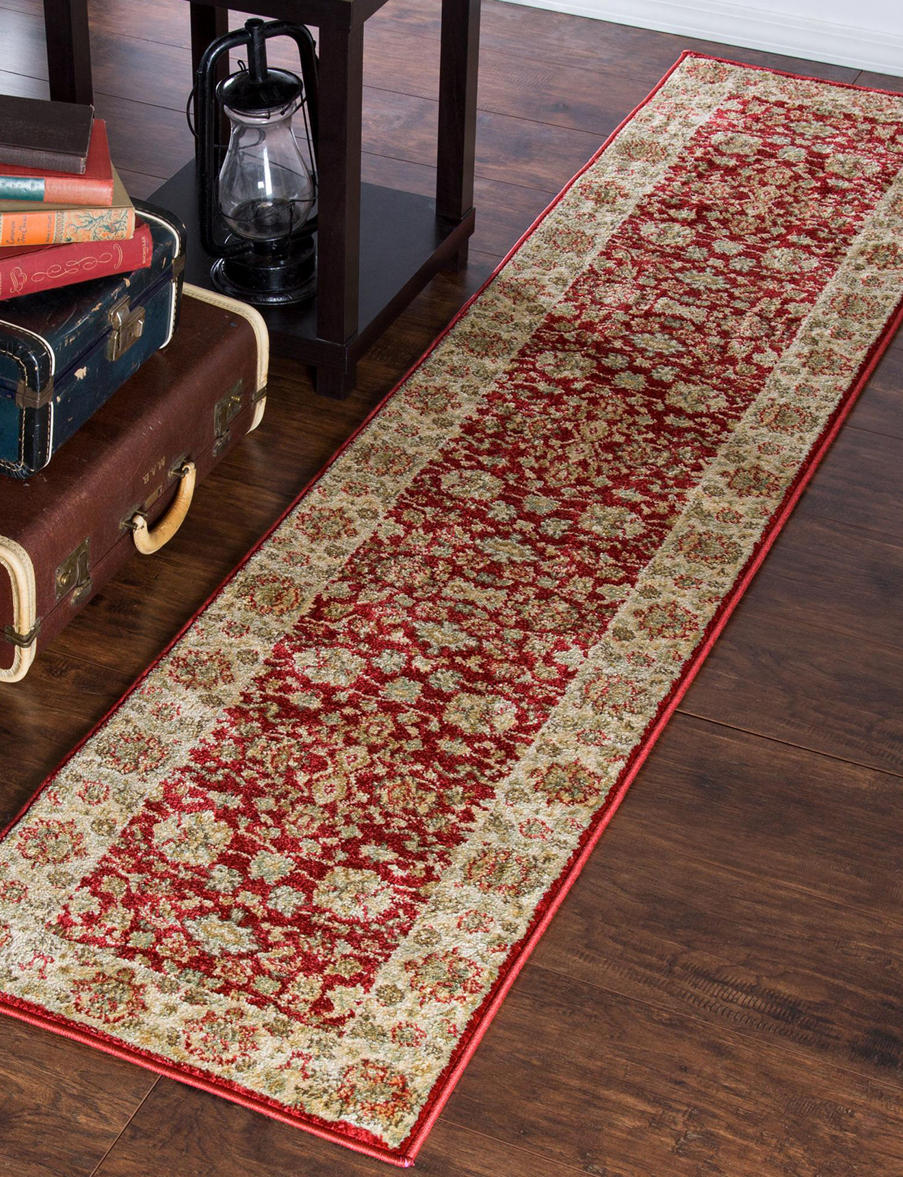 Lavish Home Red Area Rugs Runners Rugs