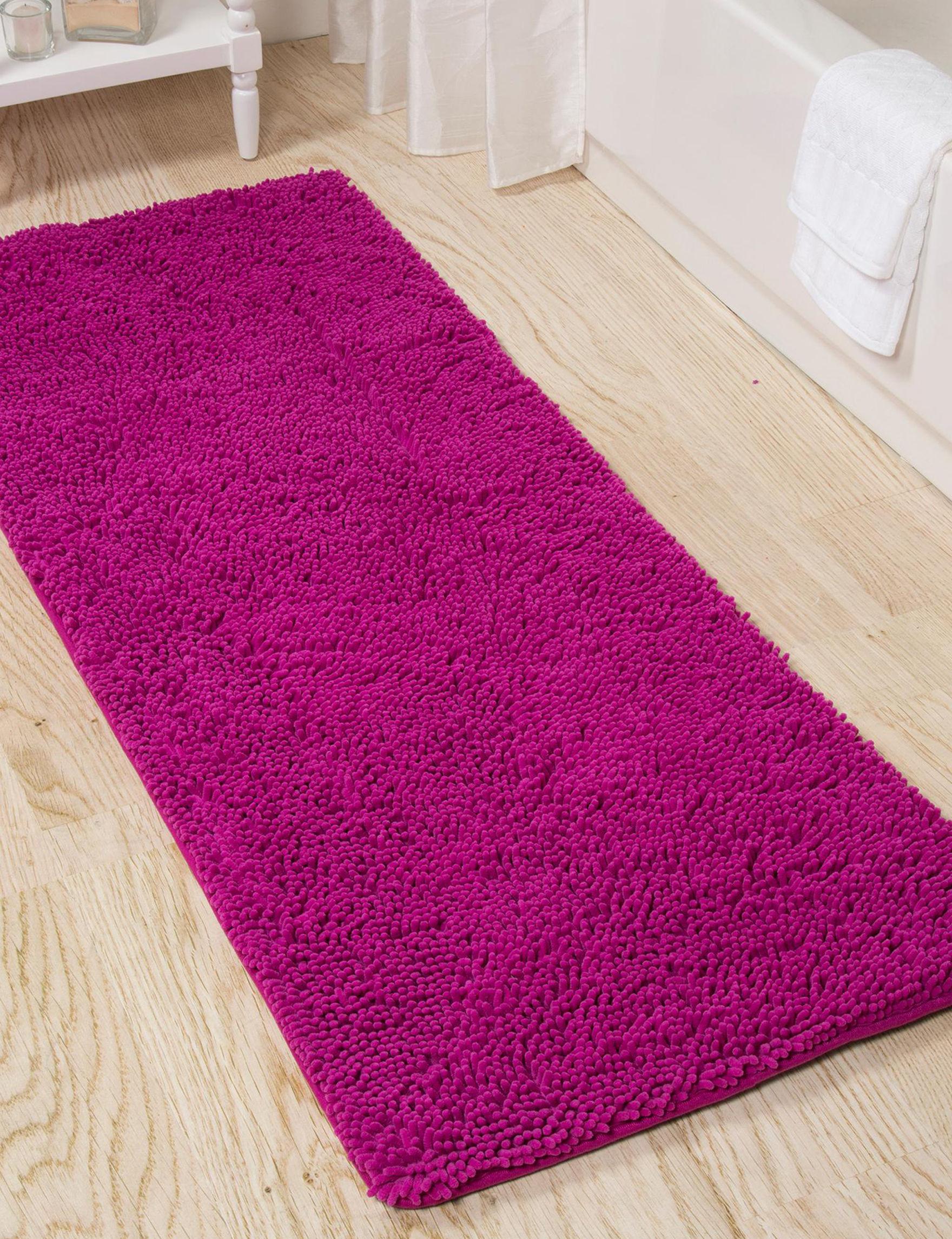 Lavish Home Pink Bath Rugs & Mats