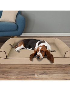 Petmaker Pet Sofa Bed with Memory Foam & Bolsters