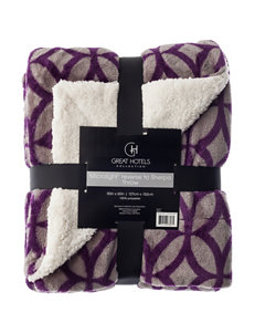Great Hotels Collection Purple Blankets & Throws