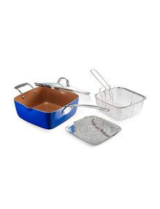 Gotham Steel Blue Cookware Sets Frying Pans & Skillets Cookware