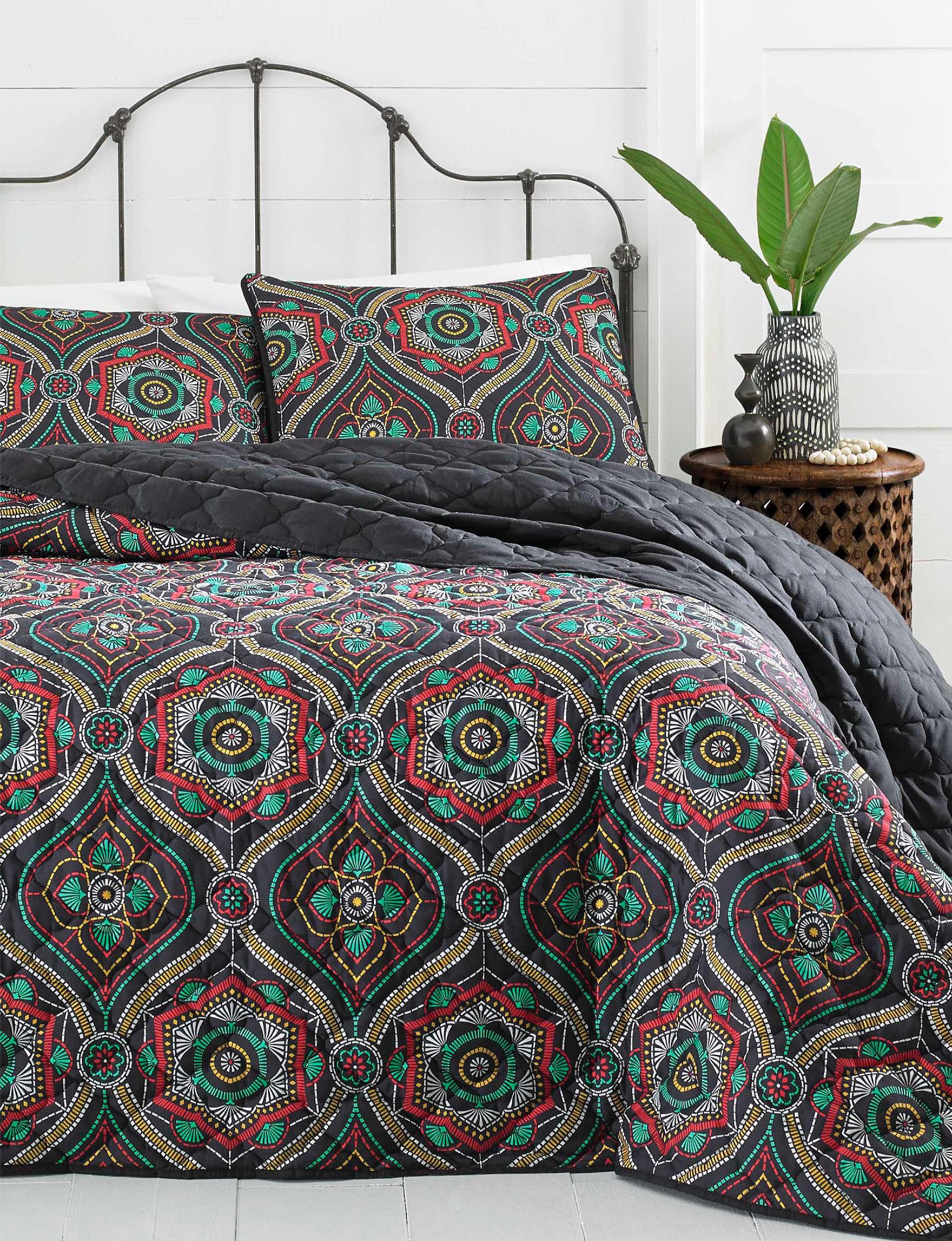 Azalea Black / Multi Quilts & Quilt Sets