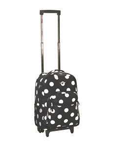 Rockland Black / White Bookbags & Backpacks Upright Spinners