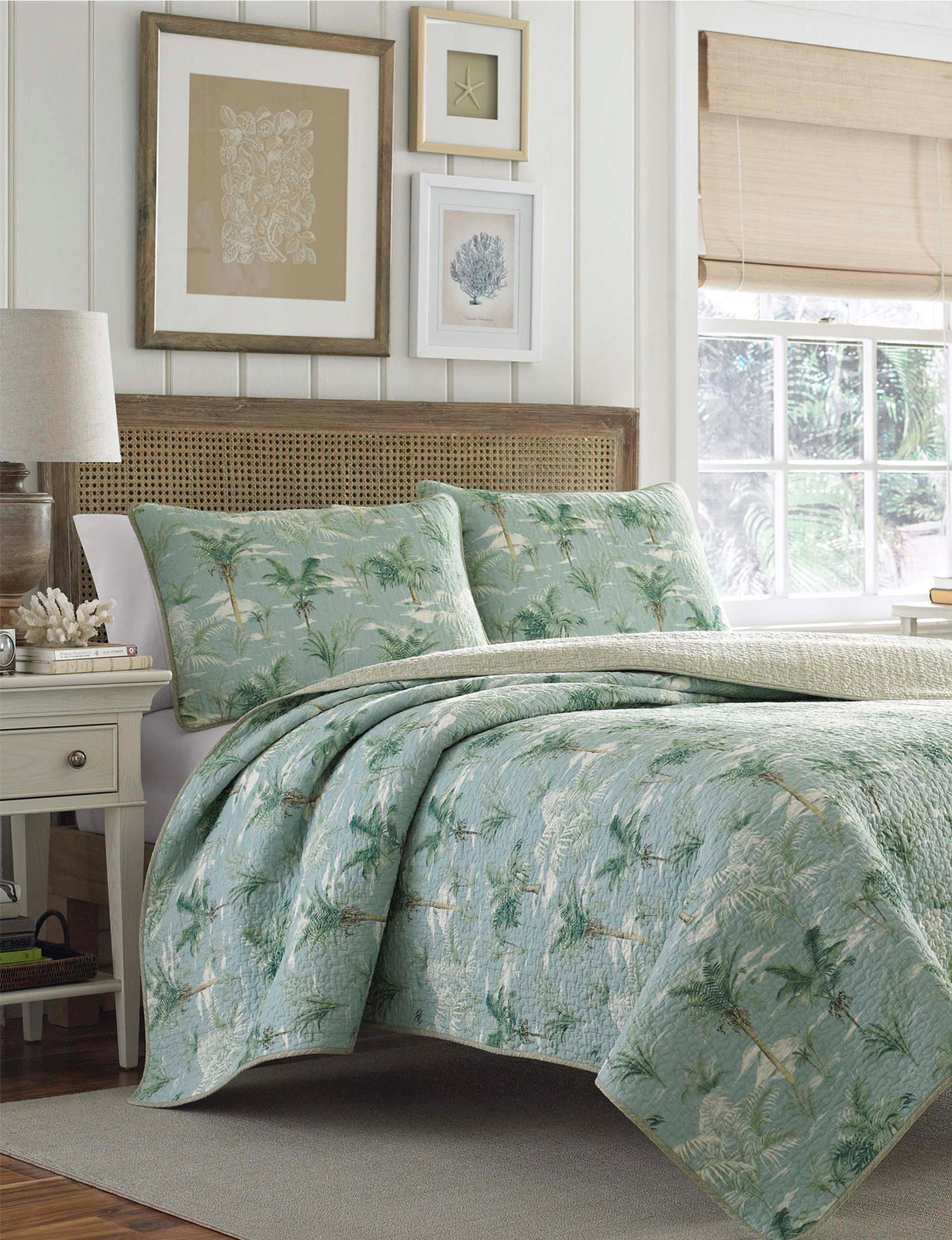 Tommy Bahama Green Quilts & Quilt Sets