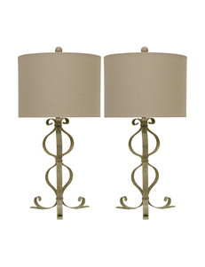 Decor Therapy Distressed Parchment Table Lamps Lighting & Lamps