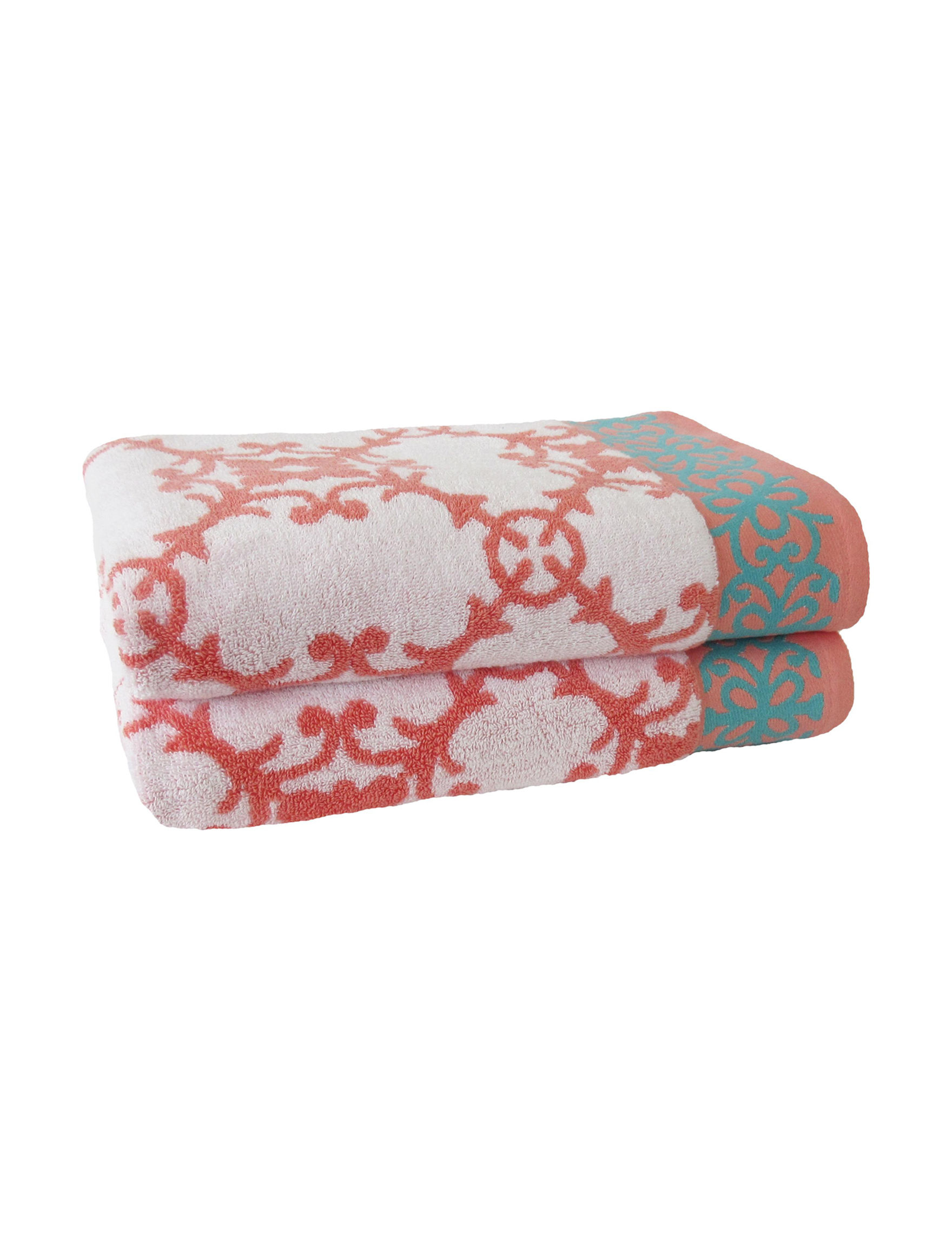 Jessica Simpson Orange Bath Towels