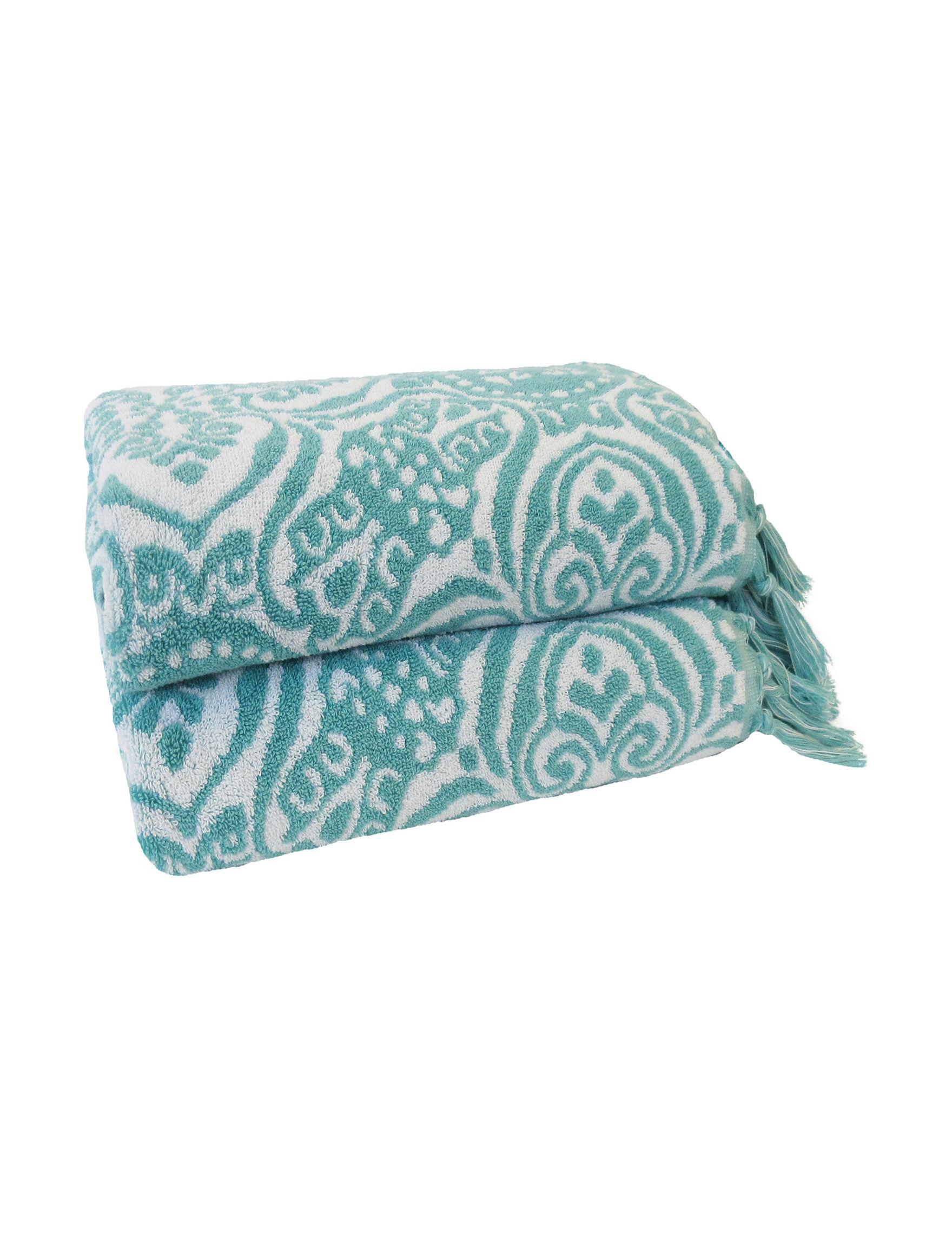 Jessica Simpson Aqua Bath Towels Towels