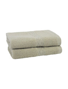 Jessica Simpson Oyster Grey Bath Towels