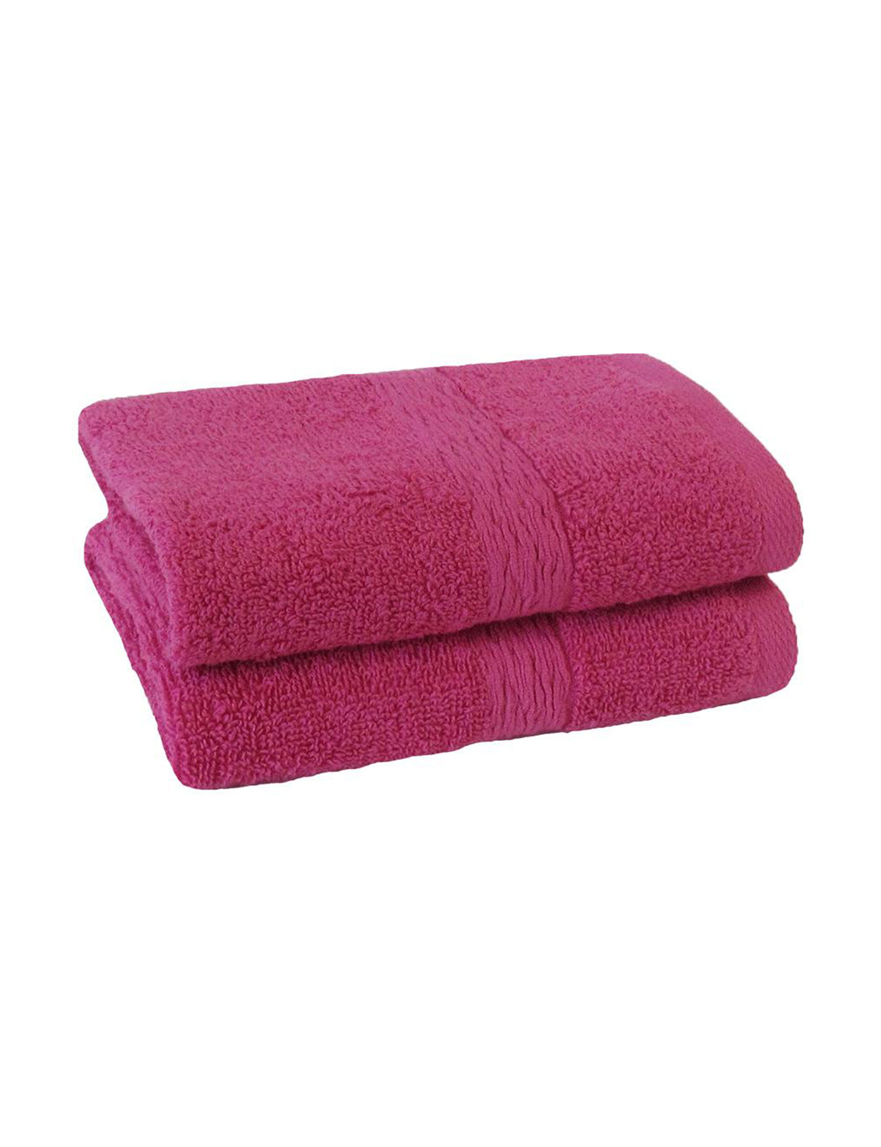 Jessica Simpson Pink Bath Towels