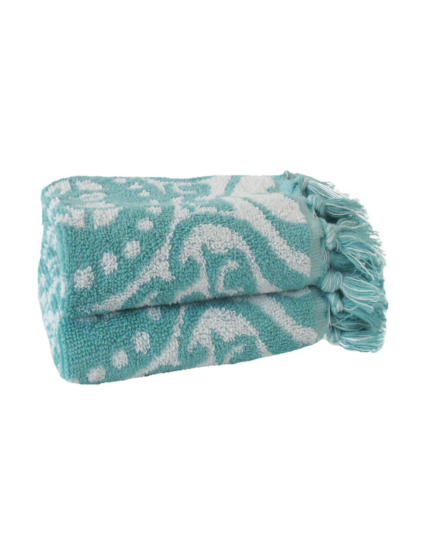 Jessica Simpson Aqua Bath Towels