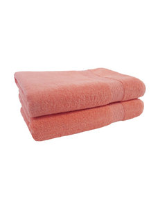 Jessica Simpson Coral Bath Towels