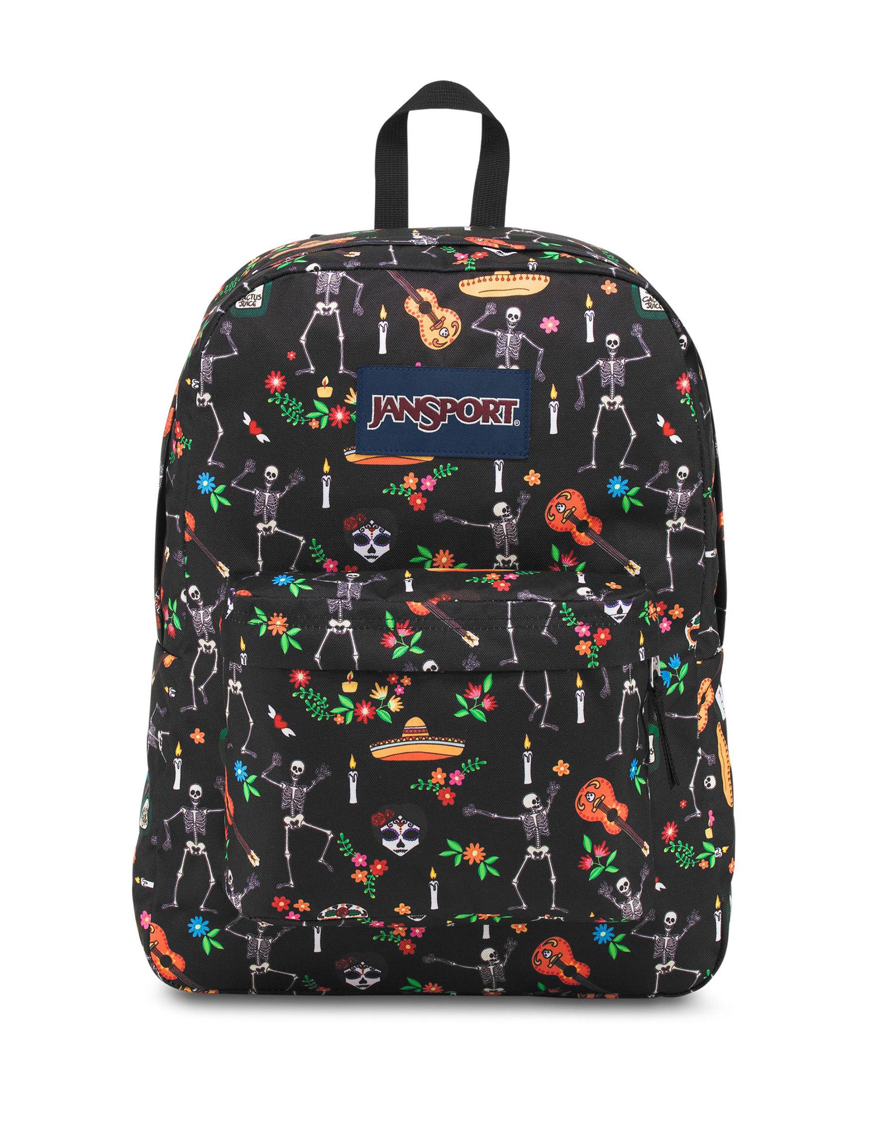 Jansport Black Multi Bookbags & Backpacks