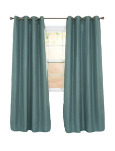 Lavish Home Teal Curtains & Drapes Window Treatments