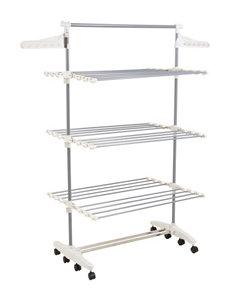Lavish Home Silver Garment & Drying Racks Irons & Clothing Care