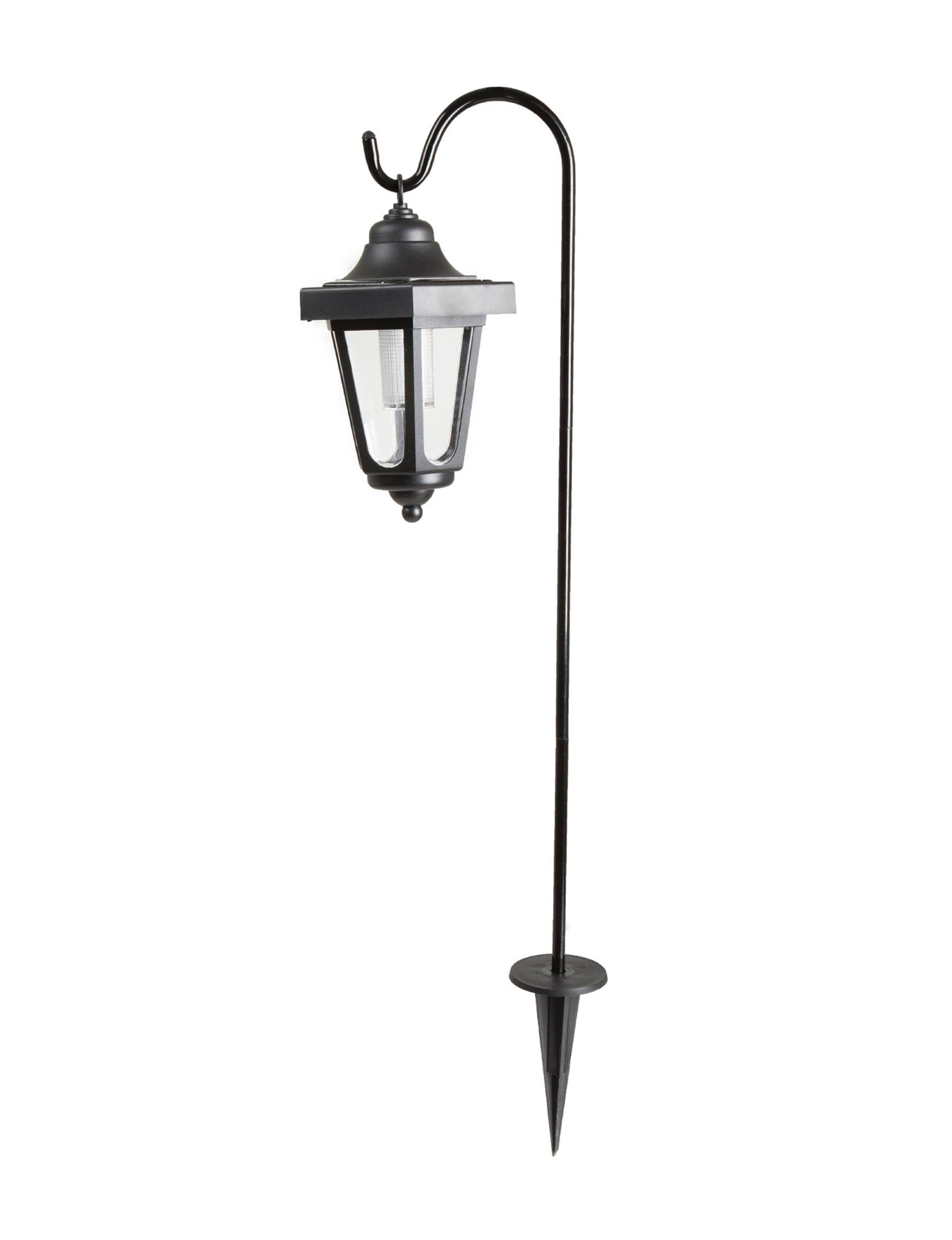 Trademark Global Black Decorative Objects Lights & Lanterns Planters & Garden Decor Home Accents Lighting & Lamps Outdoor Decor