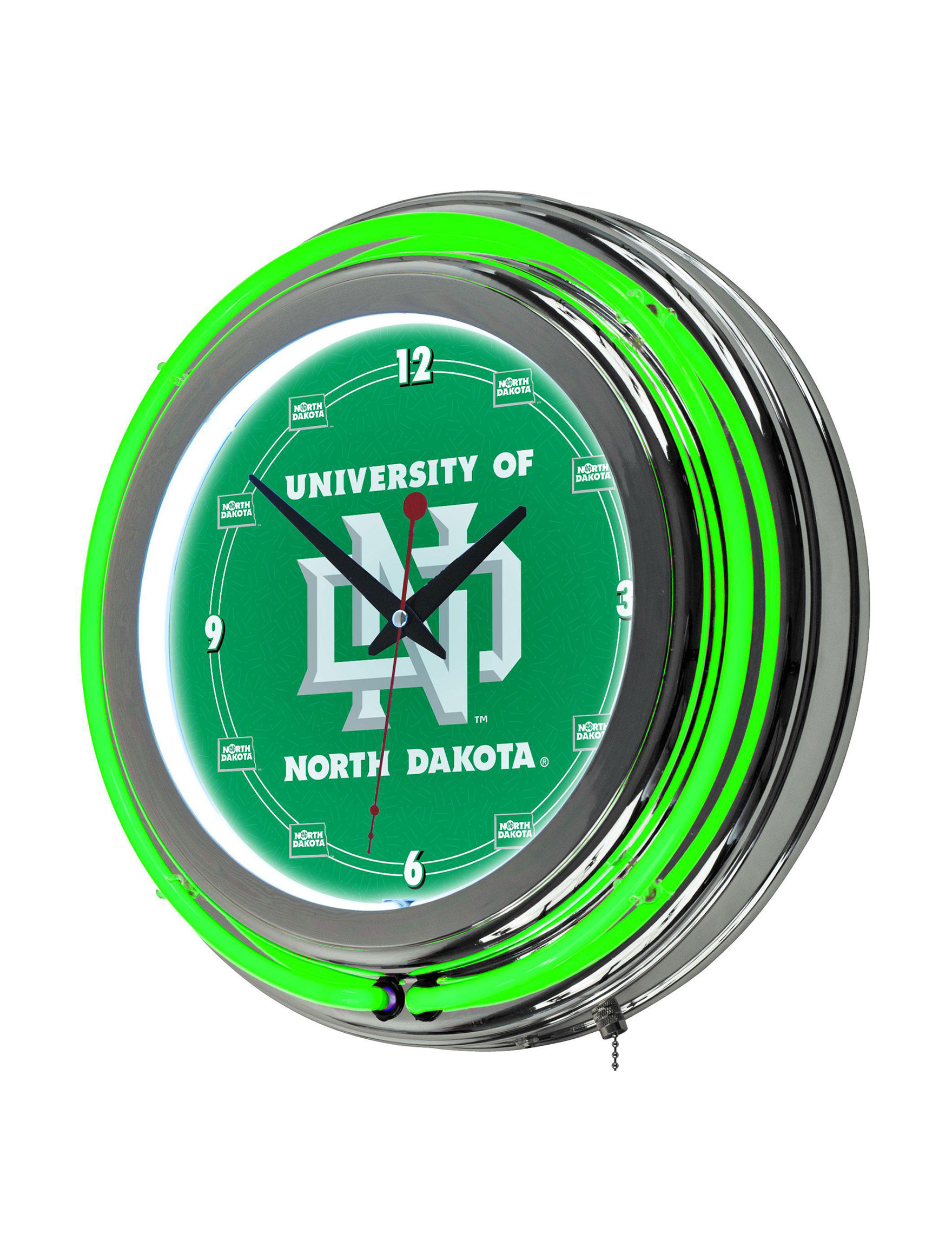 NCAA Green / White Decorative Objects Wall Art Wall Clocks Home Accents NCAA Wall Decor
