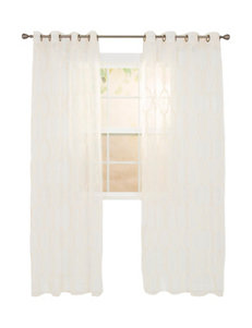 Lavish Home Beige Curtains & Drapes Window Treatments