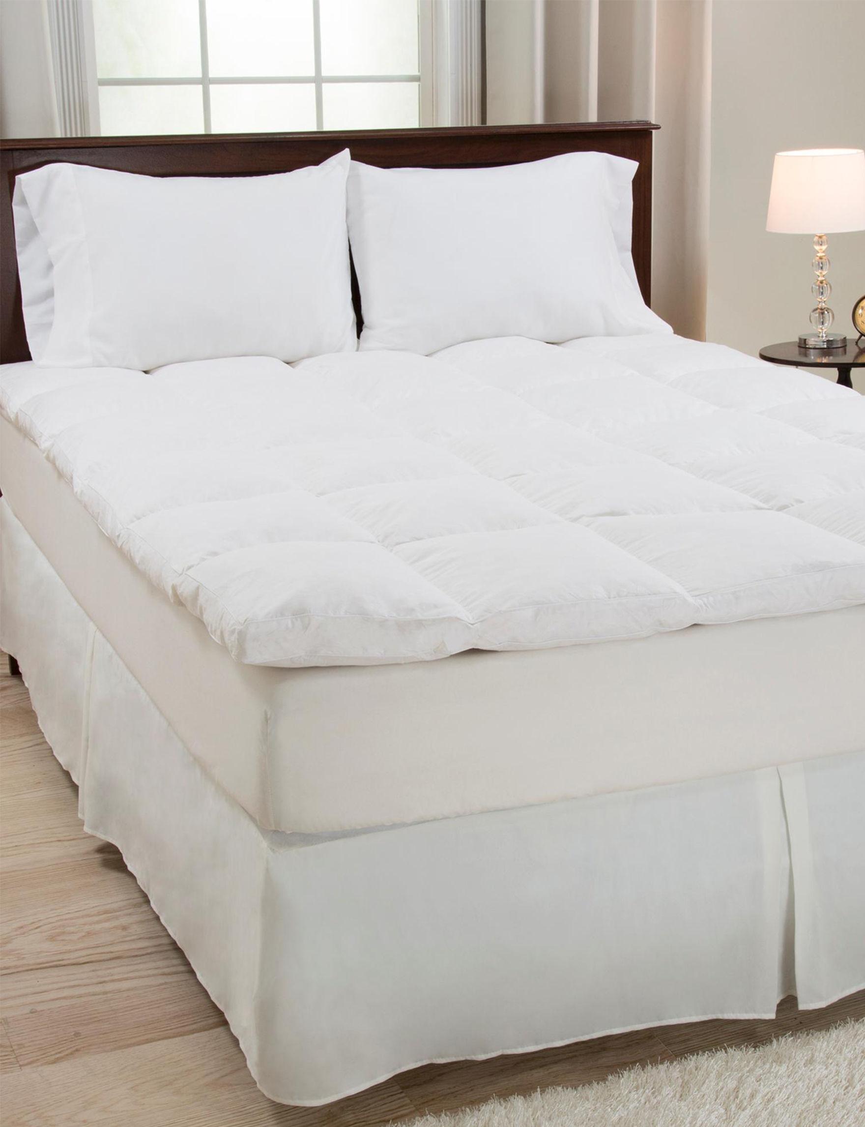 Lavish Home White Mattress Pads & Toppers
