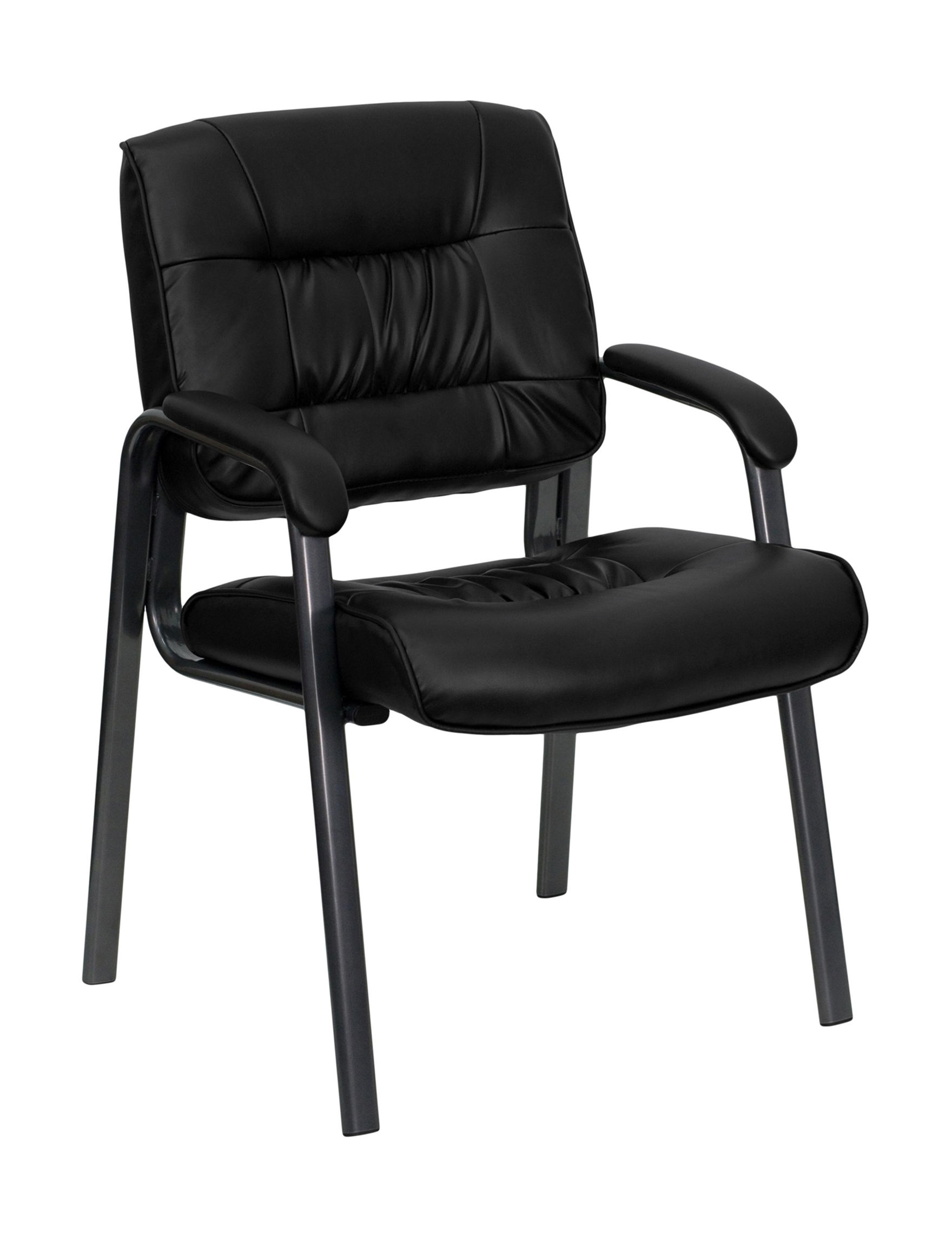 Flash Furniture Black Leather Accent Chairs Living Room Furniture