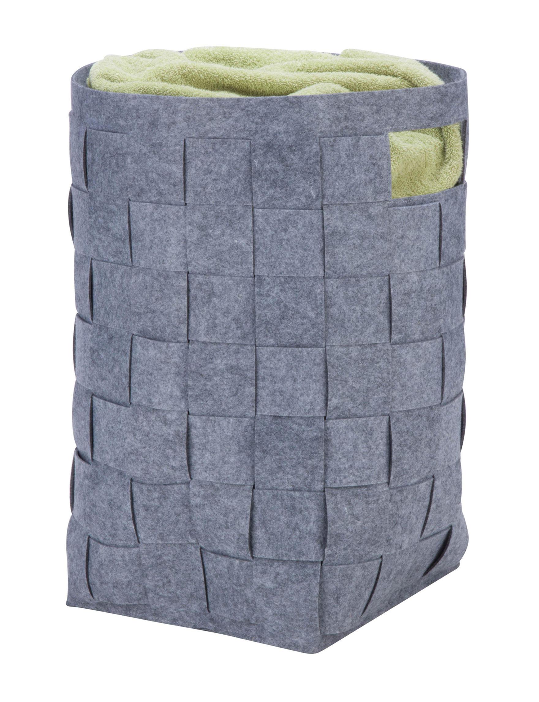 Honey-Can-Do International Dark Grey Laundry Hampers Irons & Clothing Care
