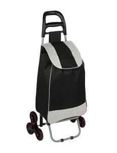 Honey-Can-Do International Black Bag Cart With Tri-Wheels