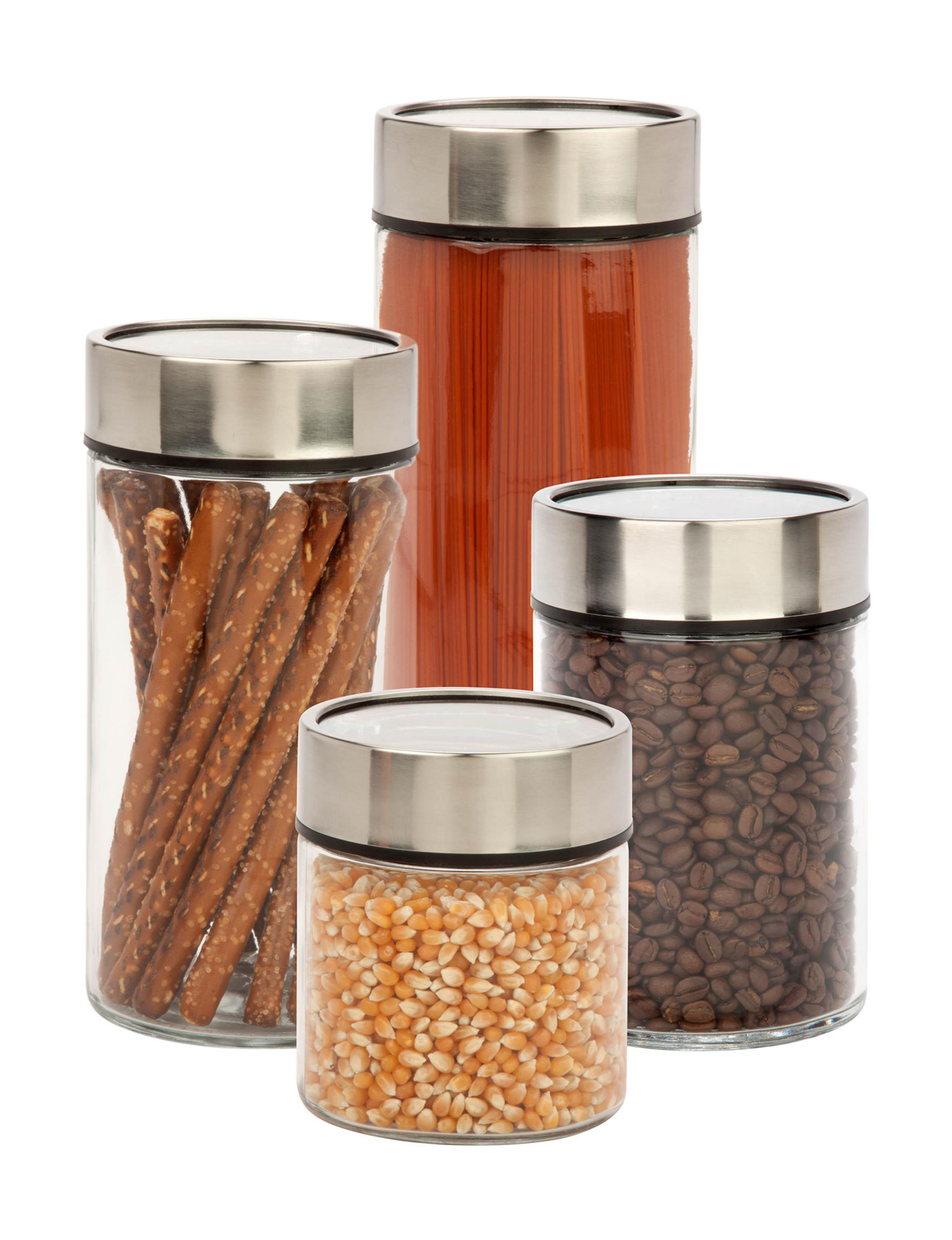 Honey-Can-Do International Clear Canister Sets Kitchen Storage & Organization