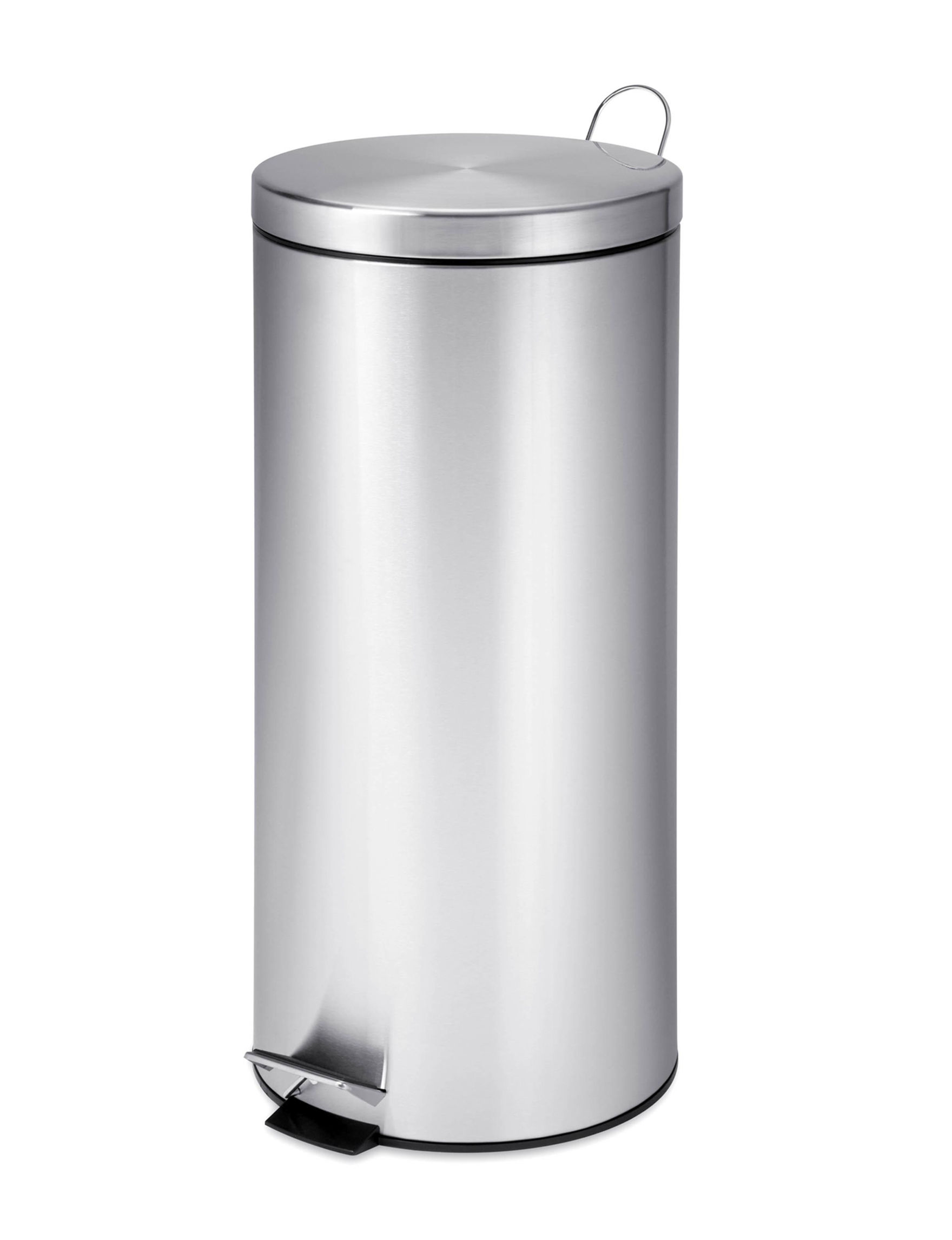 Honey-Can-Do International Grey Trash & Recycling Bins Storage & Organization