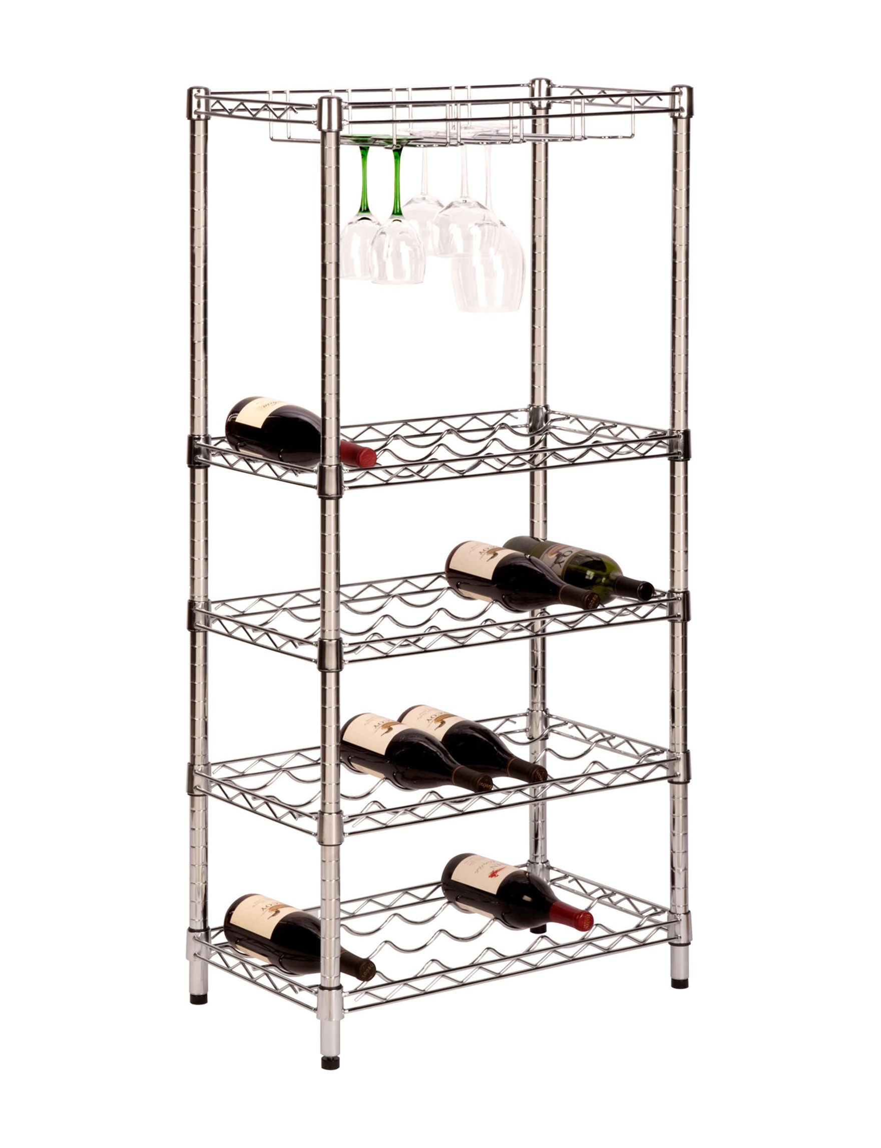 Honey-Can-Do International Chrome Storage Shelves