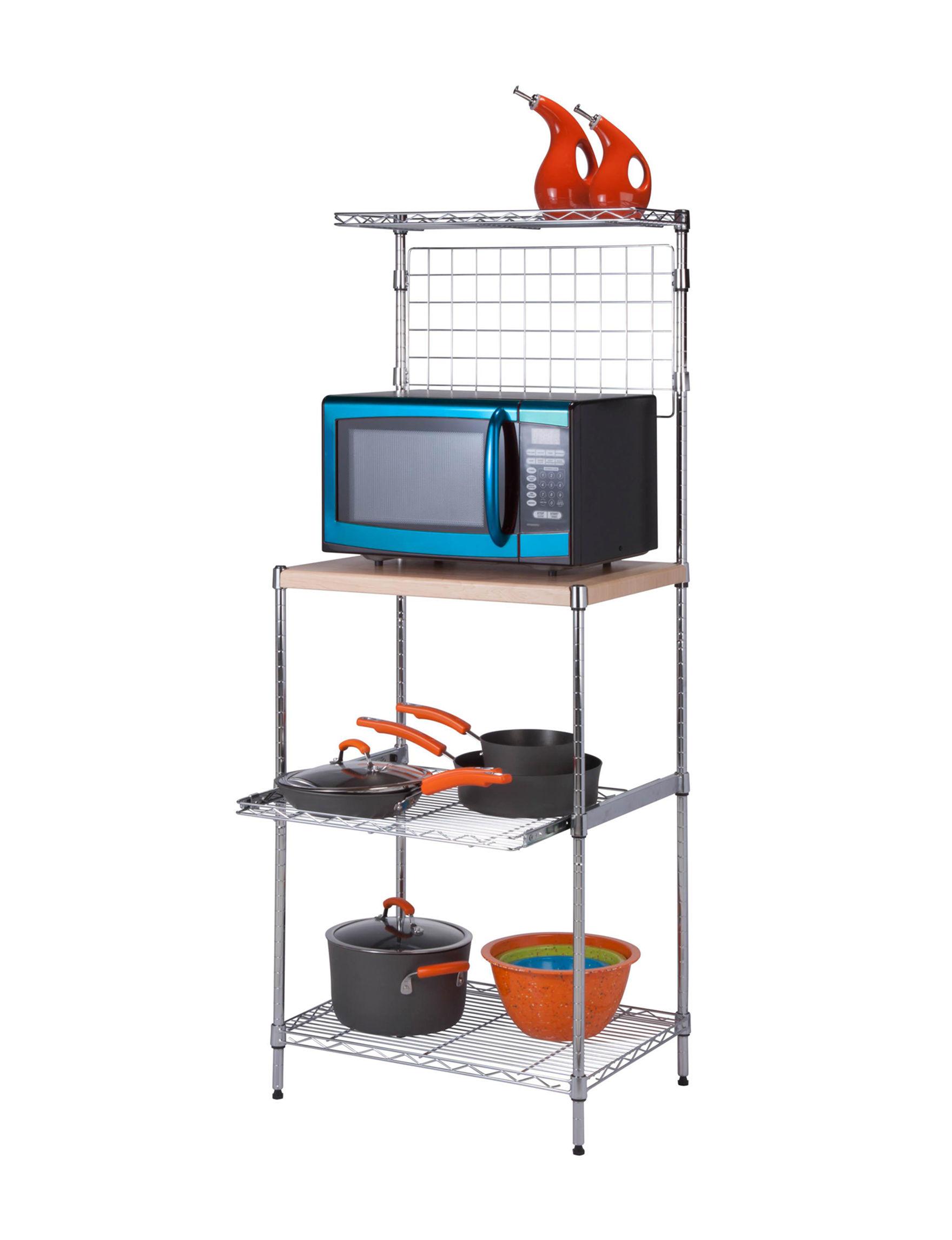 Honey-Can-Do International Chrome Storage Shelves