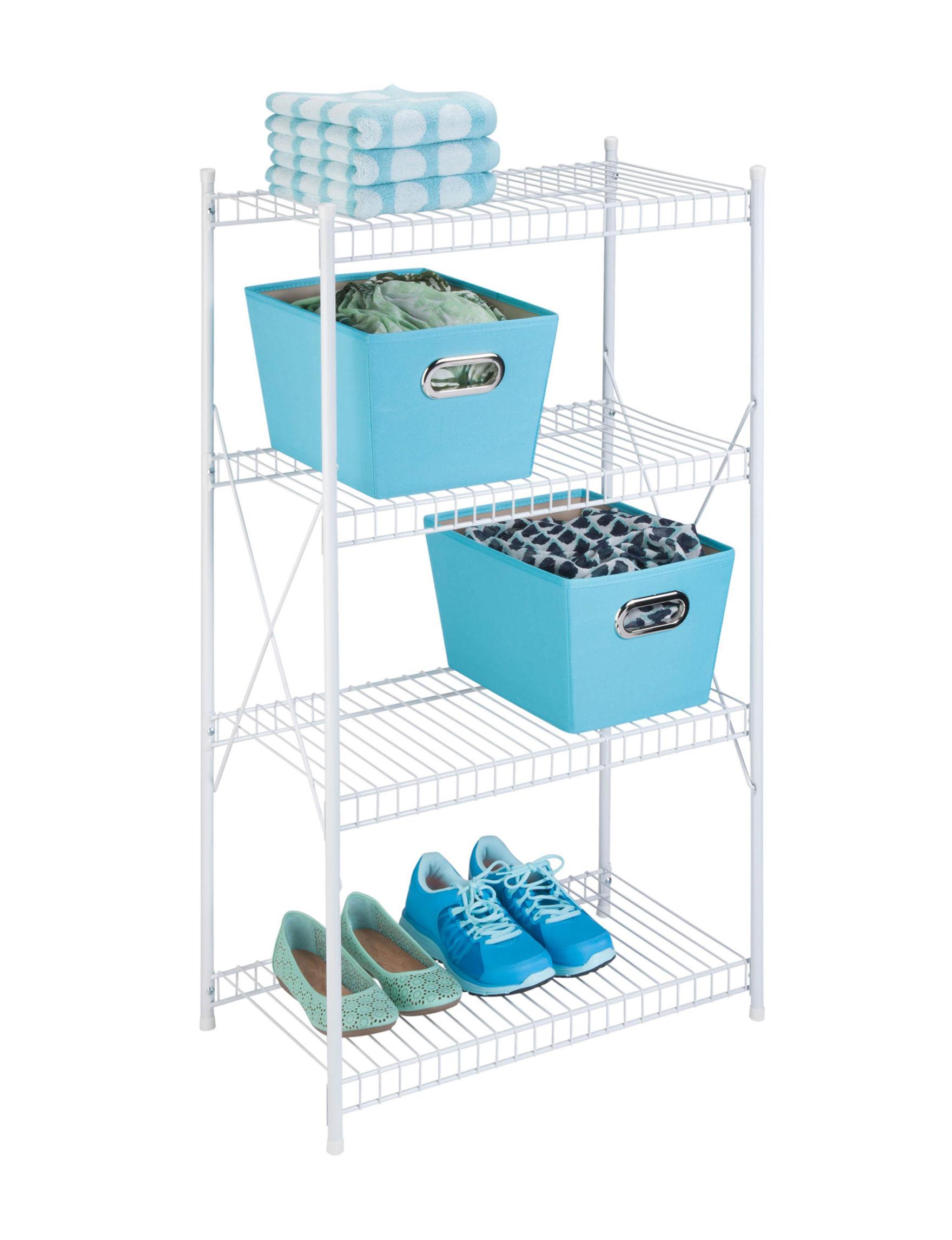 Honey-Can-Do International White Storage Shelves