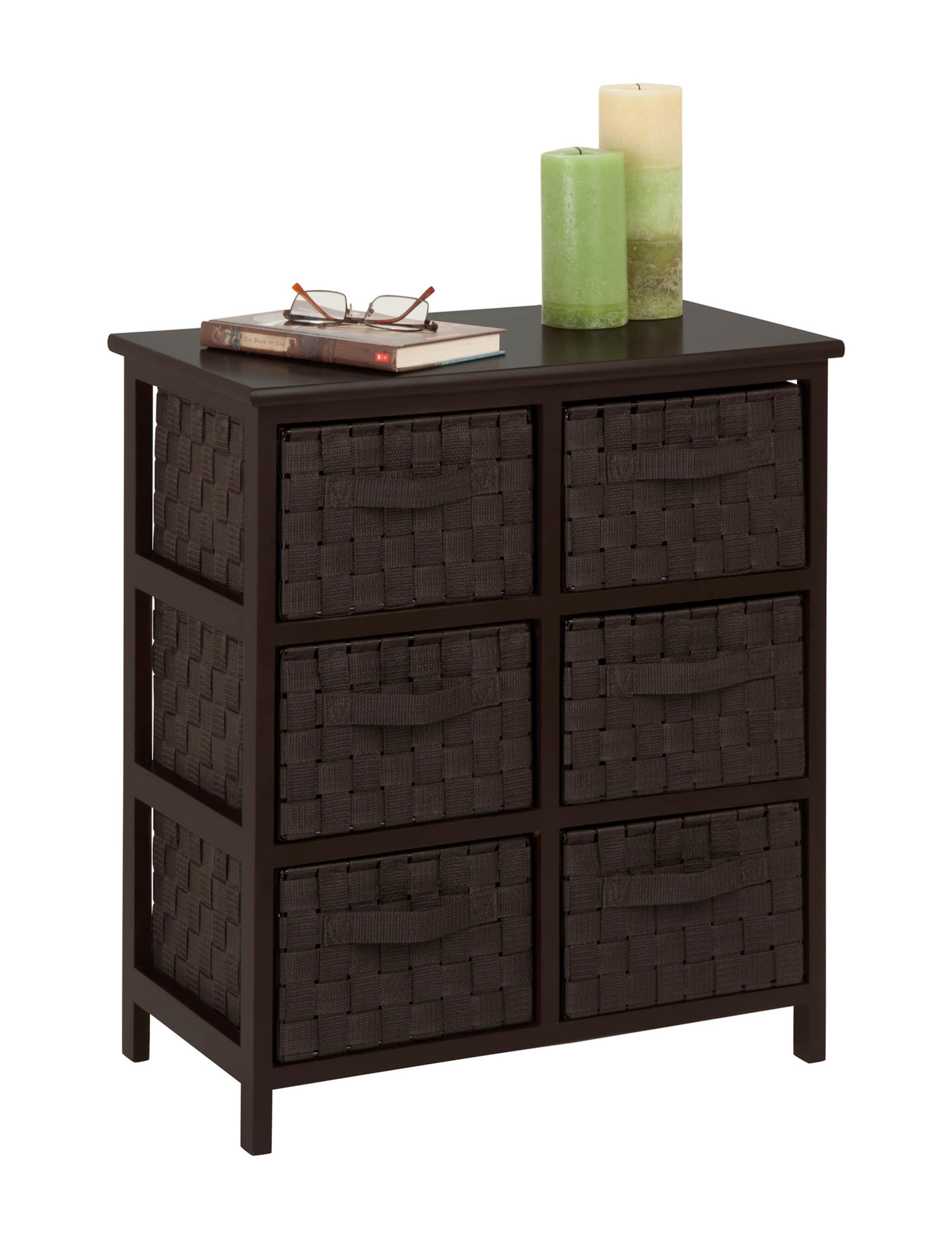 Honey-Can-Do International Dark Brown Carts & Drawers Storage & Organization