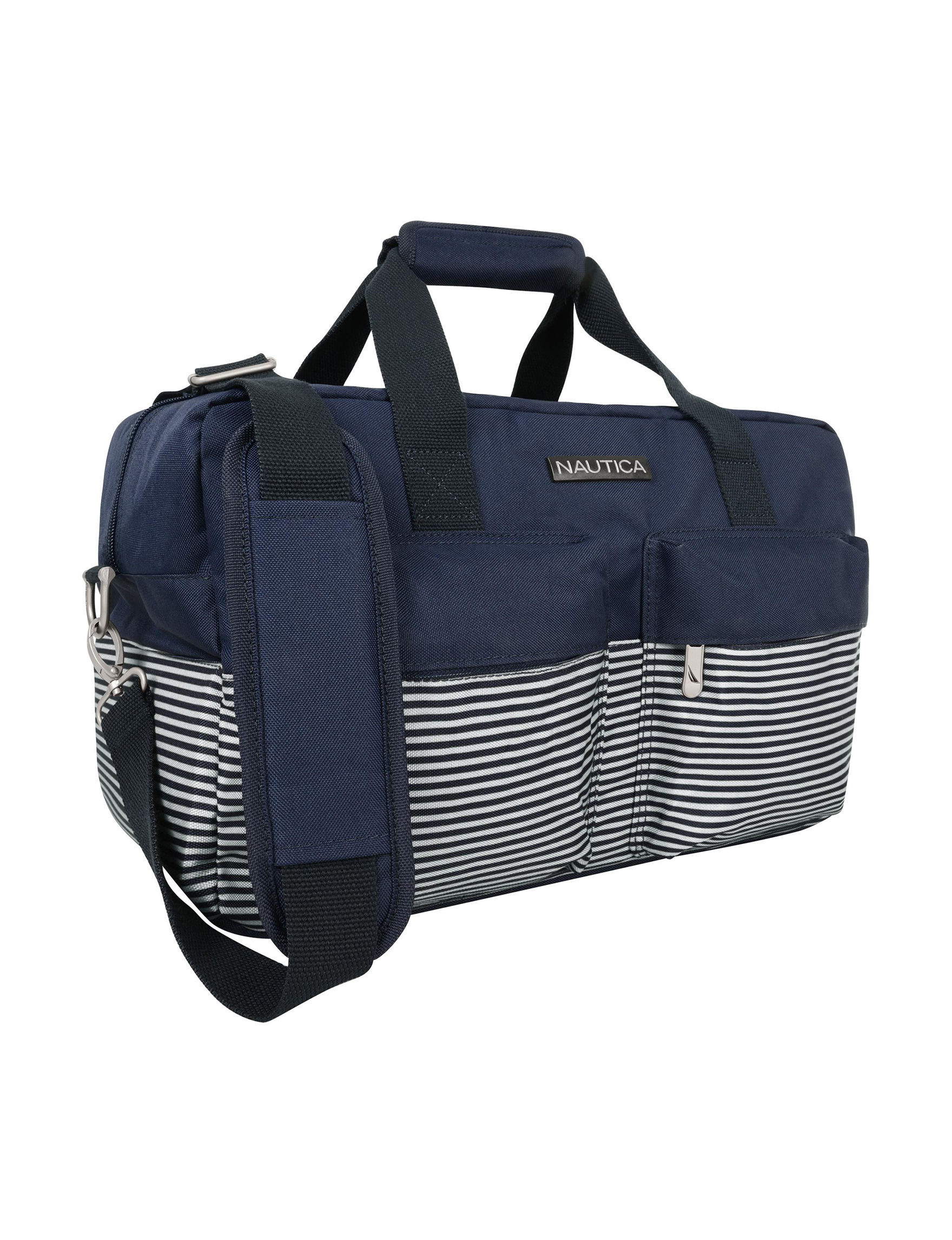 Nautica Navy Carry On Luggage Duffle Bags Weekend Bags