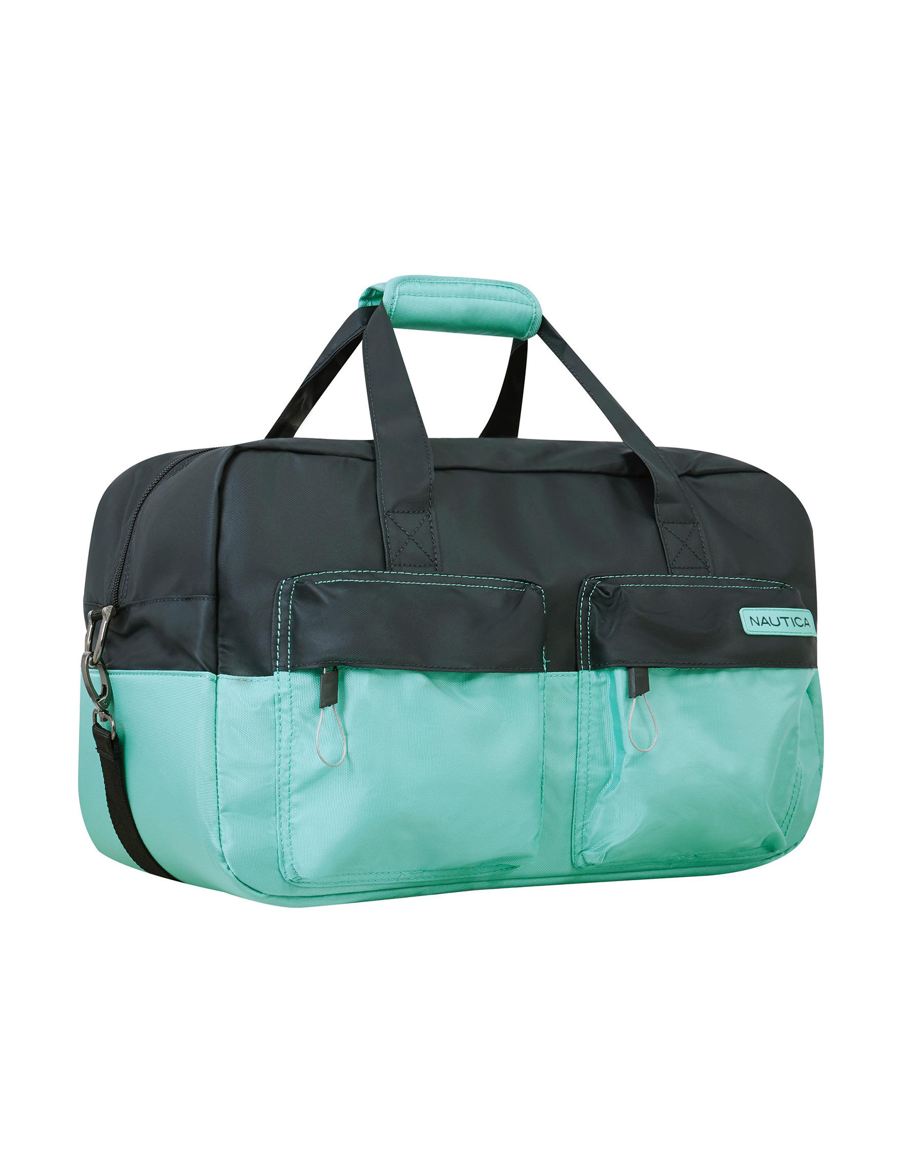 Nautica Navy / Blue Carry On Luggage Duffle Bags Weekend Bags