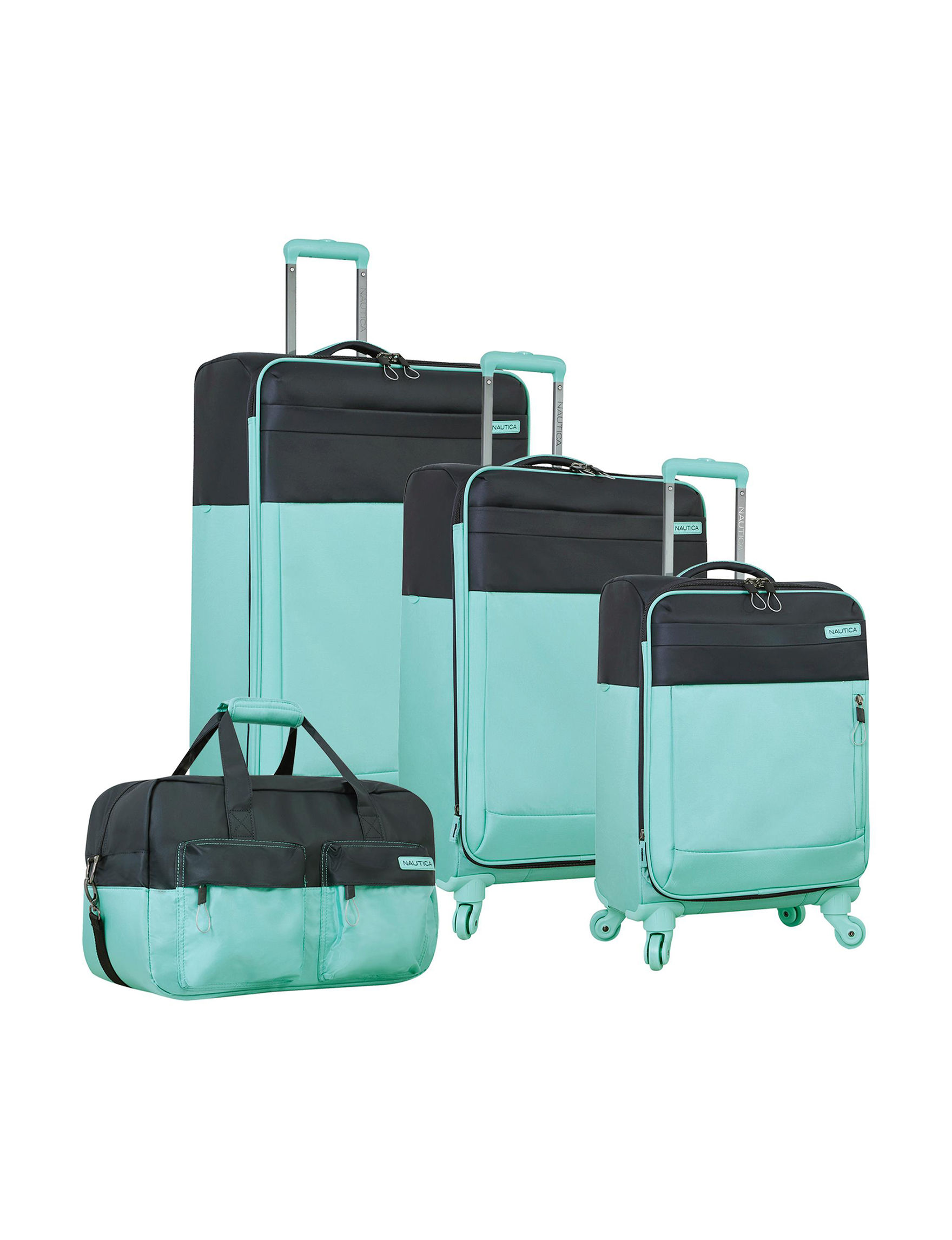 Nautica Aqua Luggage Sets Upright Spinners