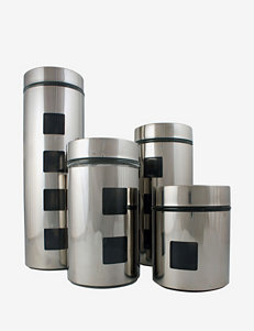 Ragalta 4-pc.  Stainless Steel & Glass Canister Set