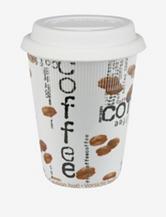 Konitz Set of 2 Coffee Collage Travel Mugs
