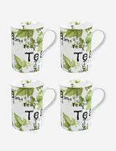 Konitz Set of 4 Tea Collage Mugs