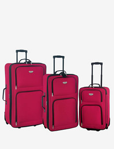 Travelers Club Luggage Red Luggage Sets